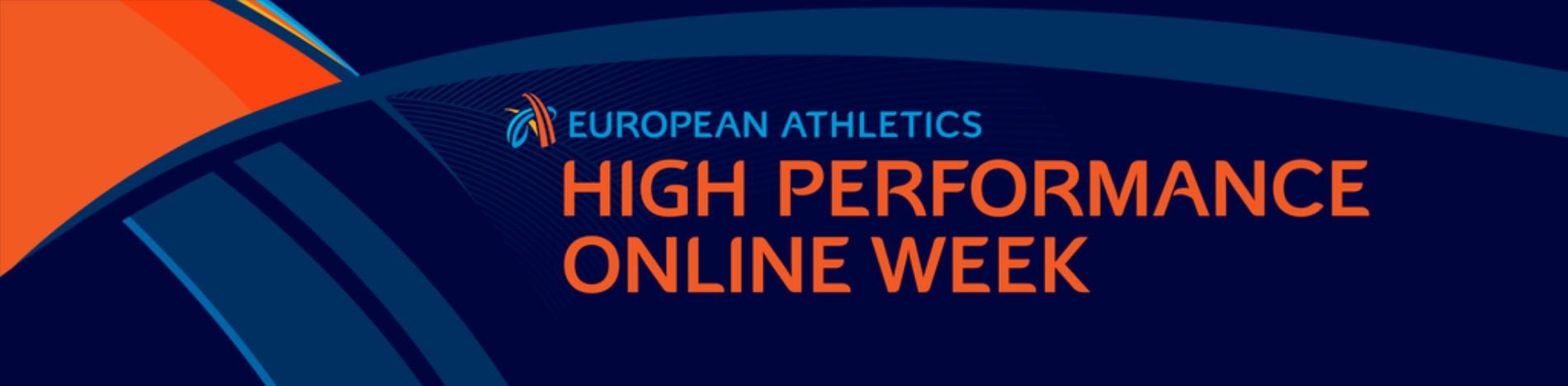 European Athletics High Performance Online Week